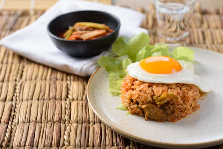 Korean food, Kimchi fried rice with fried egg