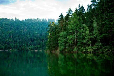 Lago di Dobiacco, Toblacher See inDolomite Alps, Italy, Europe photo