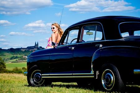 mb: Post-War model Mercedes Ponton 220SE Y.O.M. 1959 Stock Photo