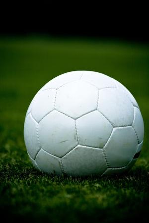 a soccer ball on the field Zdjęcie Seryjne