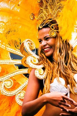 CARNAVAL: Las escenas de Samba Festival - Carnaval en Coburg, Alemania Editorial