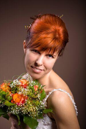 portrait of a young bride photo