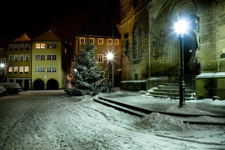 Night scenes of Coburg in Germany