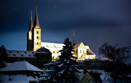 Night scenes of Bamberg in Germany, cloister Michelsberg. Stock Photo - 10039810