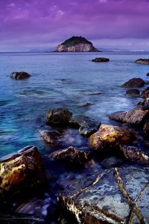 Frugoso beach near Cavo, Elba Island,  Italy Banco de Imagens
