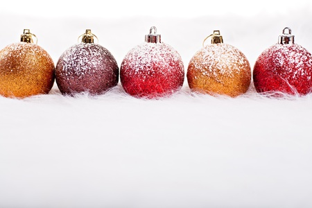 close up shot of Christmas gifts and decoration Stock Photo