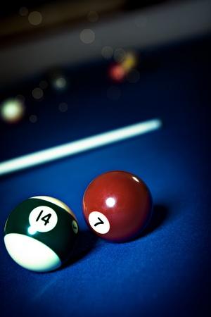 snooker room: chiudere chiudere i tavoli da biliardo Archivio Fotografico