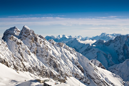 Zugspitze area in Alps at winter, Germany, Europe photo