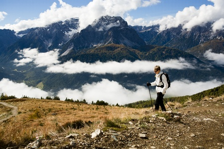 Dolomite Alps, Italy, Europe, Drei Zinnen area at Fall Stock Photo - 11803285