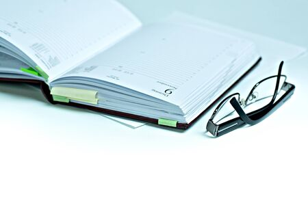 Symbilic picture. Close Up shoot of a schedule book. Stock Photo - 12014838