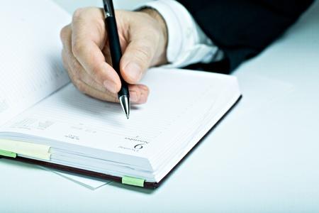 journal intime: Photo Symbilic. L'homme avec un livre adapt� calendrier.