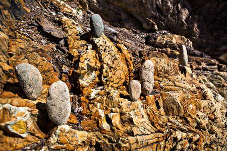 stony textured surface on the beach Stock Photo - 12614362