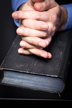 credence: Symbilic picture with bible for credence and business Stock Photo