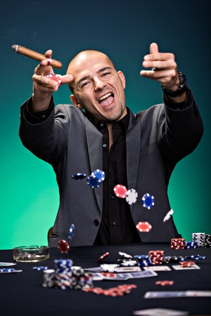 a young man playing poker photo