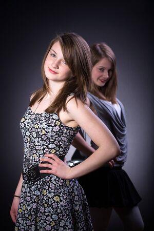 the studio portrait of a teenage  girl Stock Photo - 13488814