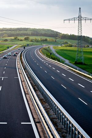 autobahn: Outdoor shut of a stretch of motorway in Germany Stock Photo