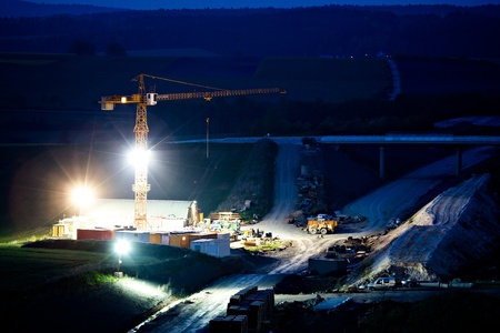 Construction of neu motorway in Germany Imagens - 13488646