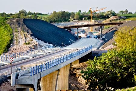 Construction of neu motorway in Germany photo
