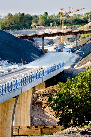 Construction of neu motorway in Germany photo