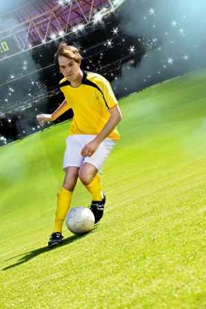 soccer or football player on the field Imagens - 13736597