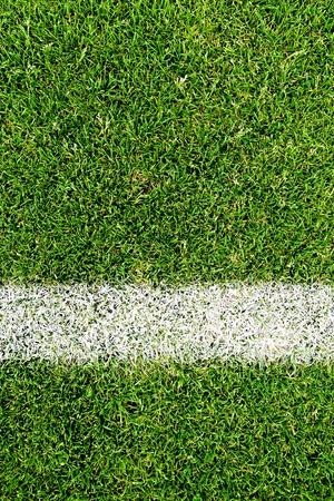 cancha de futbol: close-up cierre de una superficie de campo de f�tbol Foto de archivo
