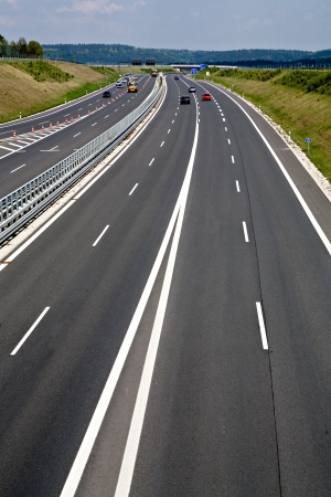 Outdoor shut of a stretch of motorway in Germany Imagens