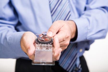compas: portrait of a businessman with compas