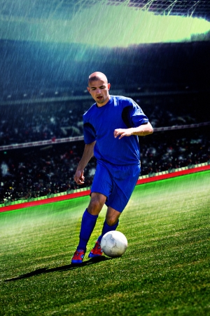 soccer or football player on the field Imagens - 14074635