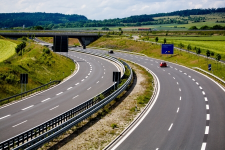 Outdoor shut of a stretch of motorway in Germany photo