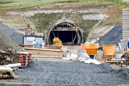Construction of neu rail tunnel in Germany Imagens