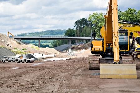 ドイツのノイ高速道路の建設 写真素材