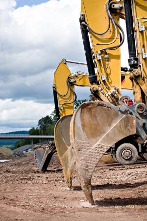 construction machines on neu motorway in Germany Imagens - 14419249