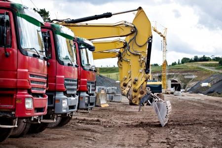 construction machines on neu motorway in Germany photo