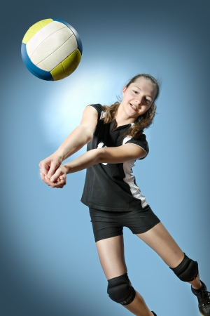 female volleyball player with a ball Imagens - 14650007