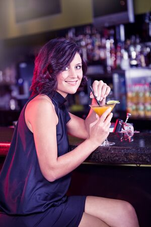 portrait of a young women in the bar Stock Photo - 15412149