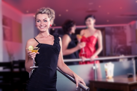 group of young women in the bar Stock Photo - 15412146