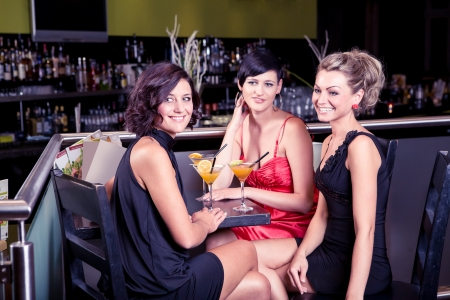 group of young women in the bar Stock Photo - 15412148