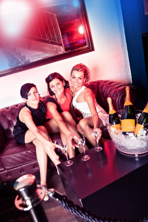group of young women in the bar Stock Photo - 15412167
