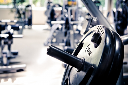 diverse equipment and machines at the gym room Imagens - 15710574