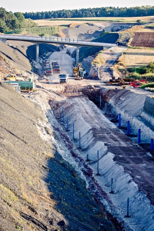 tunel: Construction of neu motorway in Germany