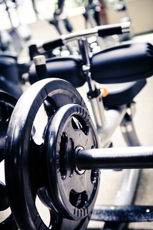 diverse equipment and machines at the gym room Imagens - 16459563