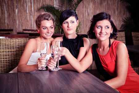 group of young women in the bar Stock Photo - 16441830