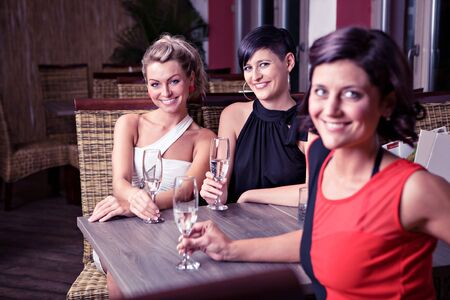 group of young women in the bar Stock Photo - 16441818