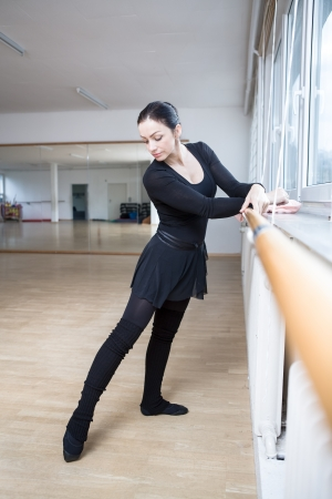 female ballet dancer at a rehearsal photo