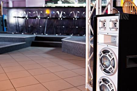 dancefloor: inside shut of a dance club room and dancefloor Stock Photo