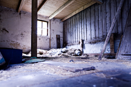 squalid: inside shooting of a old and squalid building Stock Photo