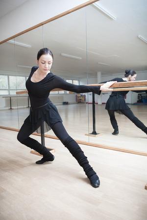 a rehearsal: female ballet dancer at a rehearsal