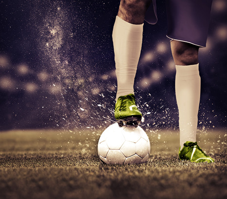 sports uniform: soccer or football  player on the field