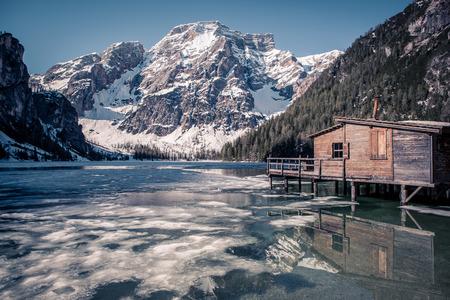 di: Lago di Braies alias Pragser Wildsee in South Tirol, Italy