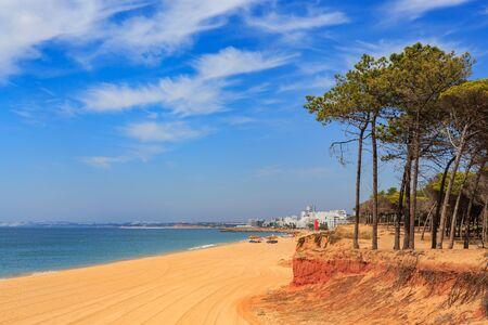 algarve: The coast of the Algarve in southern Portugal near Quarteira